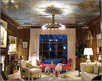 Eglomisé Sky Ceiling - Kips Bay Decorator Showhouse 2011